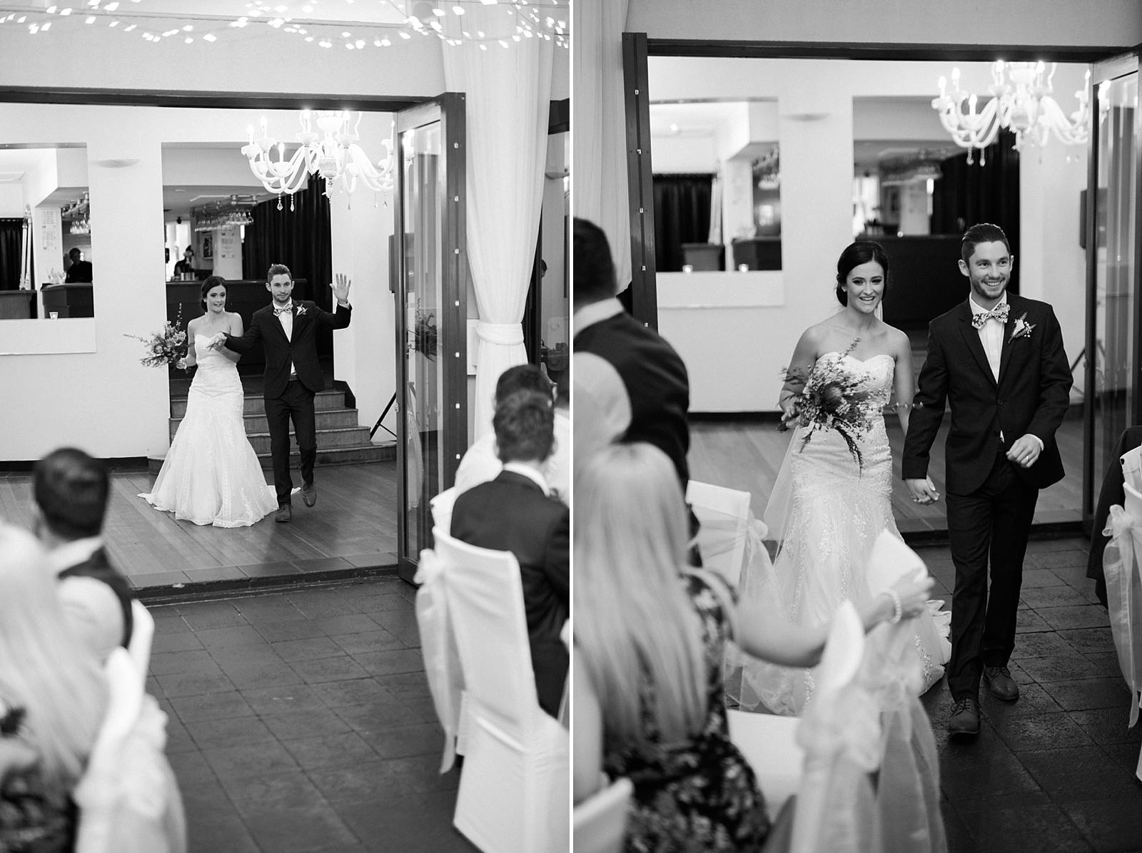 Landing at dockside wedding by mario colli photography